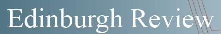 Ediburgh Review masthead copy